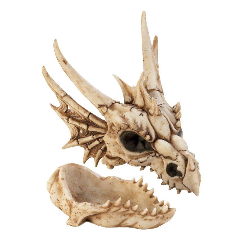 Image 1 of Ferocious Dragon Head Skull Trinket Keepsake Box