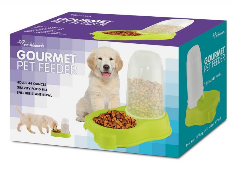 Image 0 of Lime Green Automatic Kibble Pet Feeder Holds 44 ounces of Food