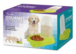Lime Green Automatic Kibble Pet Feeder Holds 44 ounces of Food