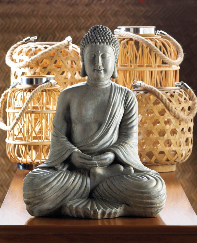 Image 1 of Zen Meditation Sitting Buddha Statue Figurine