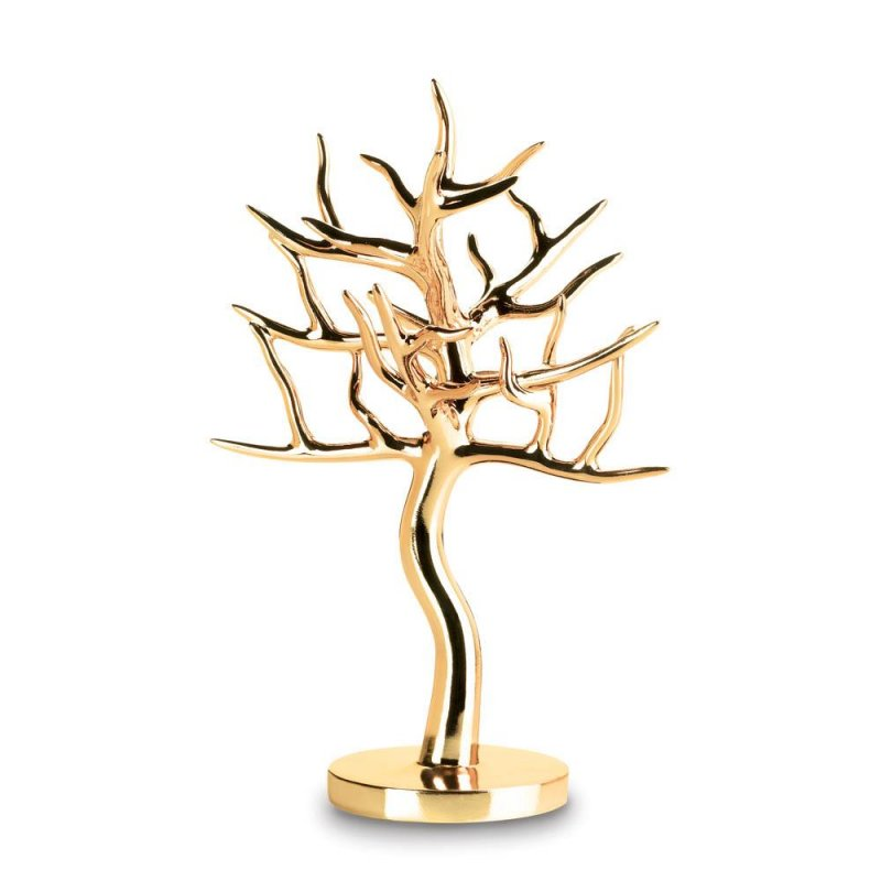 Image 0 of Gold Jewelry Tree Holder for Rings, Earrings, Bracelets