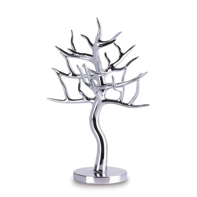 Image 0 of Silver Jewelry Tree Holder for Rings, Earrings, Bracelets