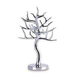 Silver Jewelry Tree Holder for Rings, Earrings, Bracelets