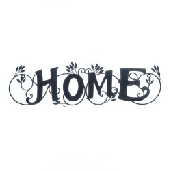 Home in Lovely Script Wall Plaque with Scrolling Ivy