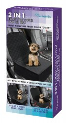 2 in 1 Front Seat Pet Cover Converts to Boxed Seat