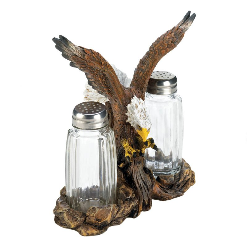 Image 1 of Salt and Pepper Shaker Set in Soaring Eagle