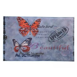 Artist Butterflies Memory Foam Floor Mat for Entryway, Kitchen, Bath