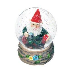 Garden Gnome Taking a Coffee Break Mini Snow Globe