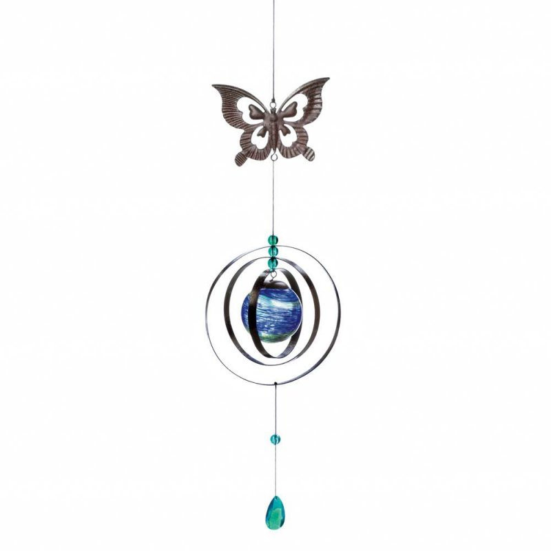 Image 0 of Glow in the Dark Butterfly Wind Spinner