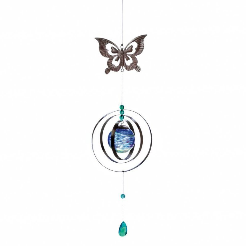 Image 1 of Glow in the Dark Butterfly Wind Spinner