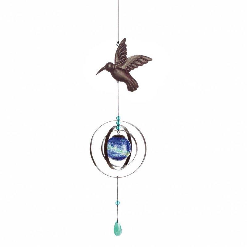 Image 0 of Glow in the Dark Hummingbird Wind Spinner