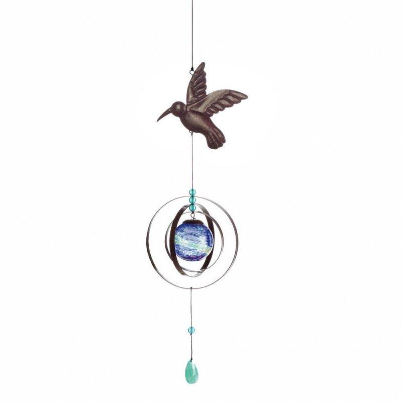 Image 1 of Glow in the Dark Hummingbird Wind Spinner