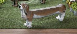 Basset Hound Doggy Garden, Patio, Entryway, Porch Bench