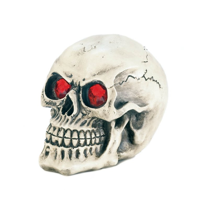 Image 0 of Skull with Color Changing LED Light up Eyes