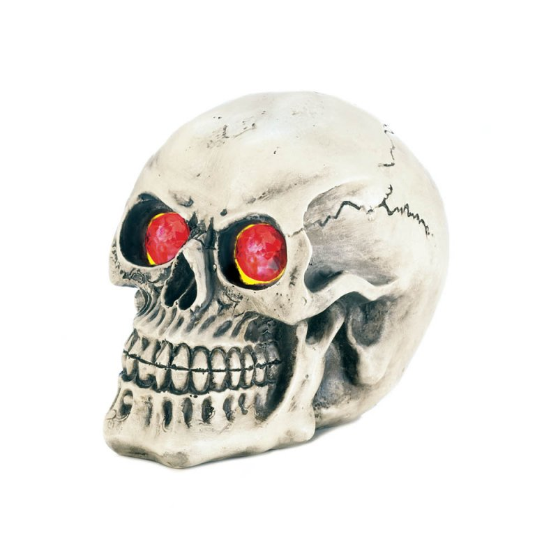 Image 1 of Skull with Color Changing LED Light up Eyes