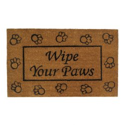 Wipe Your Paws Outdoor Welcome Door Mat Rug