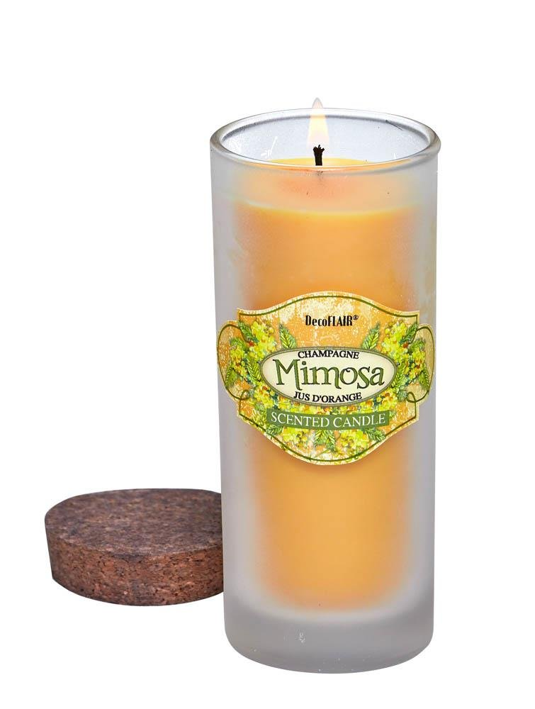 Image 0 of Mimosa Highball Scented Candle in Clear Glass Jar with Lid 33 Hours Burn Time