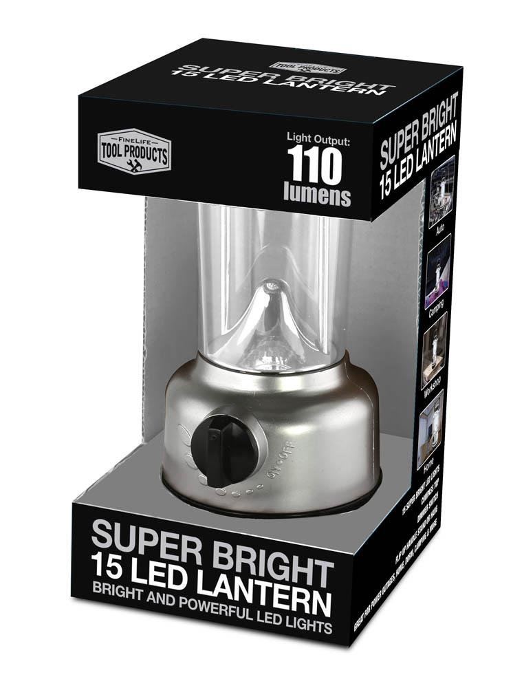 Image 0 of Super Bright 15 LED Lantern with Compass Great for Camping, Patio, Hiking