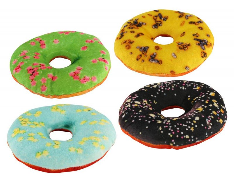 Image 0 of Set of 4 Donut Shaped Dog Squeaky Toys