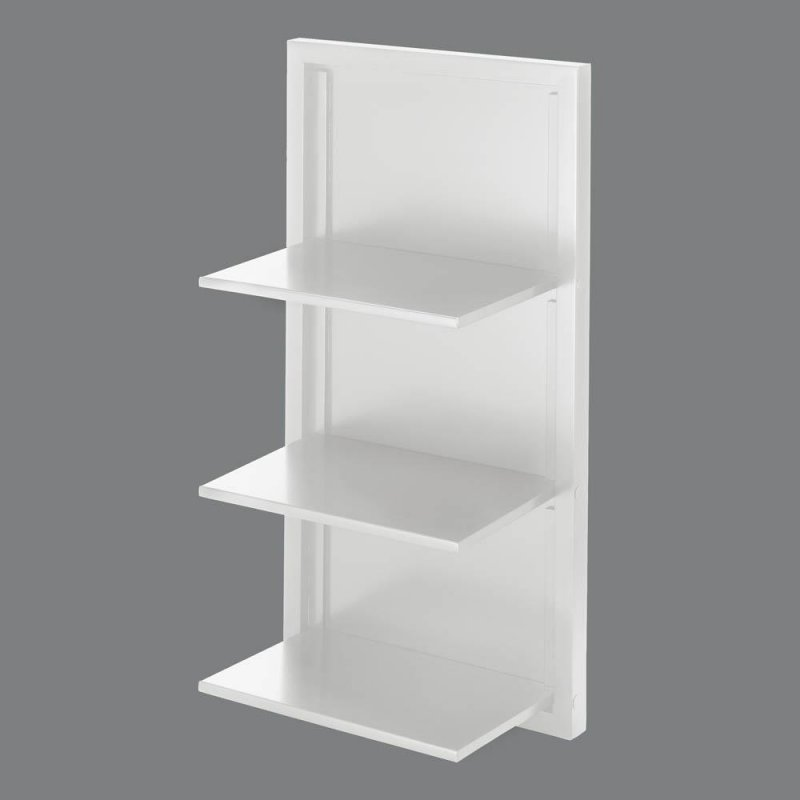 Image 0 of Contemporary White Three Shelf Wooden Folding Wall Shelves
