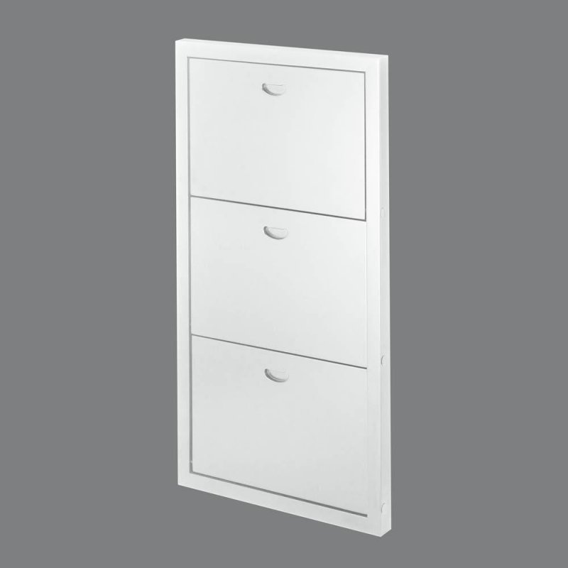 Image 1 of Contemporary White Three Shelf Wooden Folding Wall Shelves