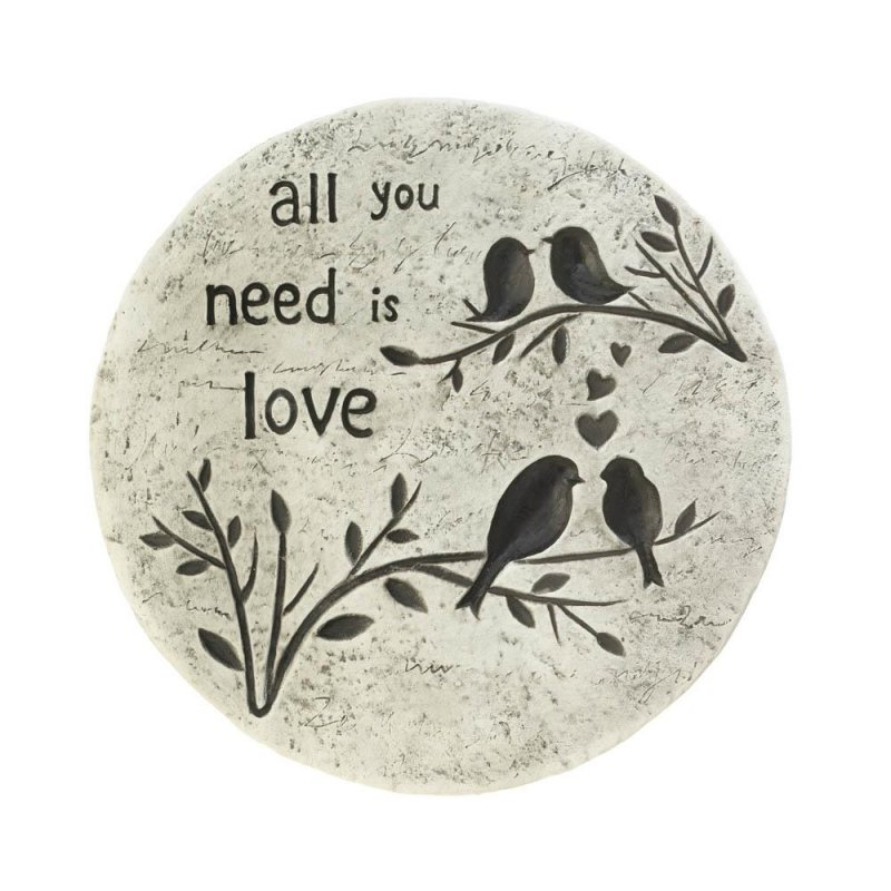 Image 0 of All you Need is Love Birds on a Branch Garden Stepping Stone Cement