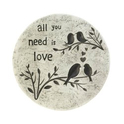 All you Need is Love Birds on a Branch Garden Stepping Stone Cement
