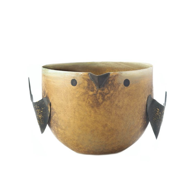 Image 1 of Key Lime Pie Scented Soy Wax Candle in Iron Golden Brown Birdie Holder