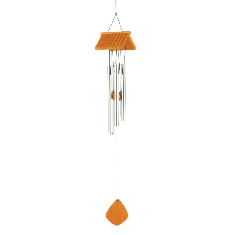 Image 0 of Country Log Cabin Roof Pine Wood & Aluminum Wind Chime