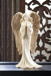 Praying Angel in Flowing Gown Figurine