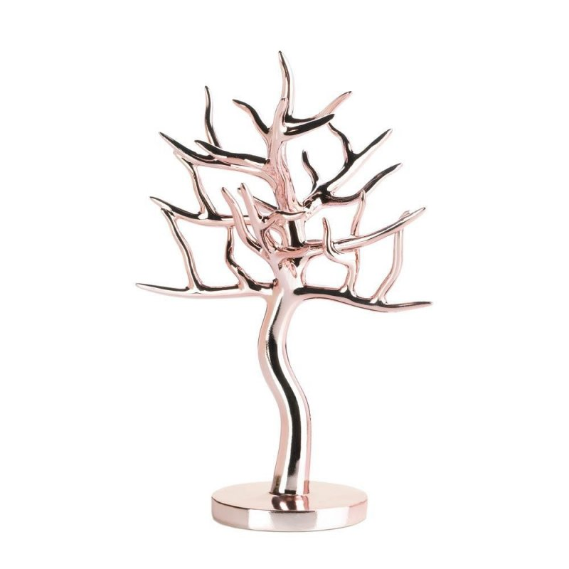 Image 0 of Elegant Rose Gold Jewelry Tree for Necklaces, Bracelets