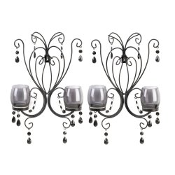 '.Midnight Elegance Wall Sconces.'