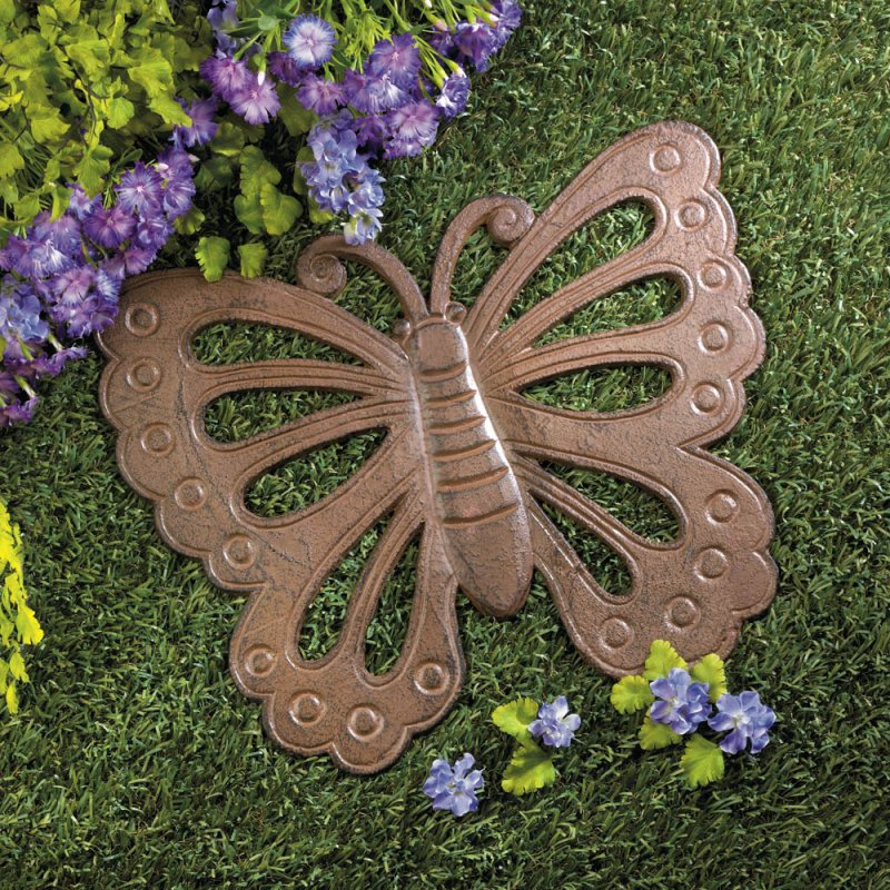 Image 0 of Cast Iron Butterfly Stepping Stone Garden Decor