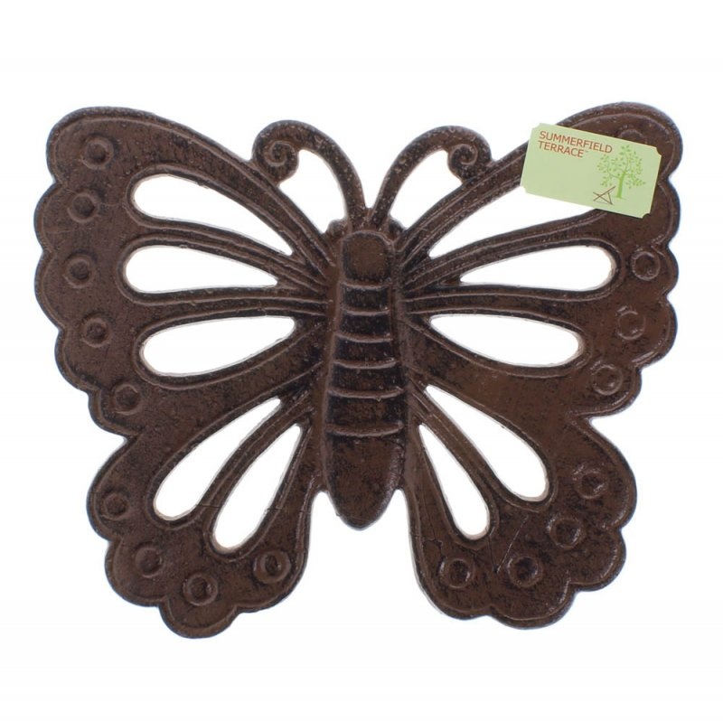 Image 2 of Cast Iron Butterfly Stepping Stone Garden Decor