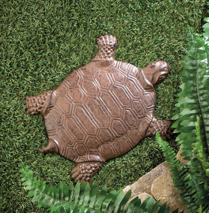 Image 0 of Cast Iron Turtle Stepping Stone Garden Decor