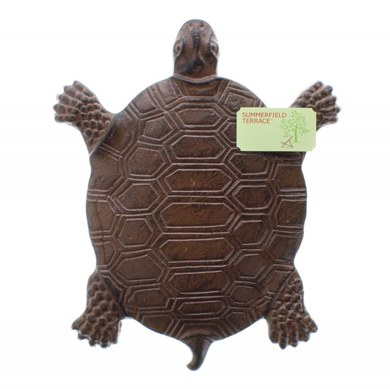 Image 2 of Cast Iron Turtle Stepping Stone Garden Decor
