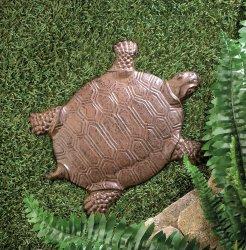 Cast Iron Turtle Stepping Stone Garden Decor