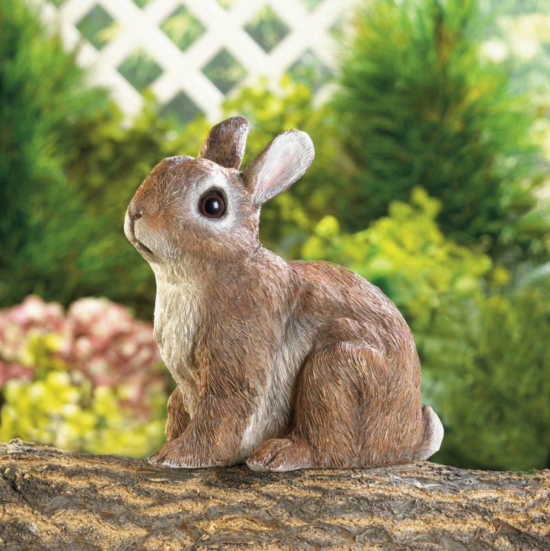 Image 0 of Sitting Bunny Rabbit Garden Figurine