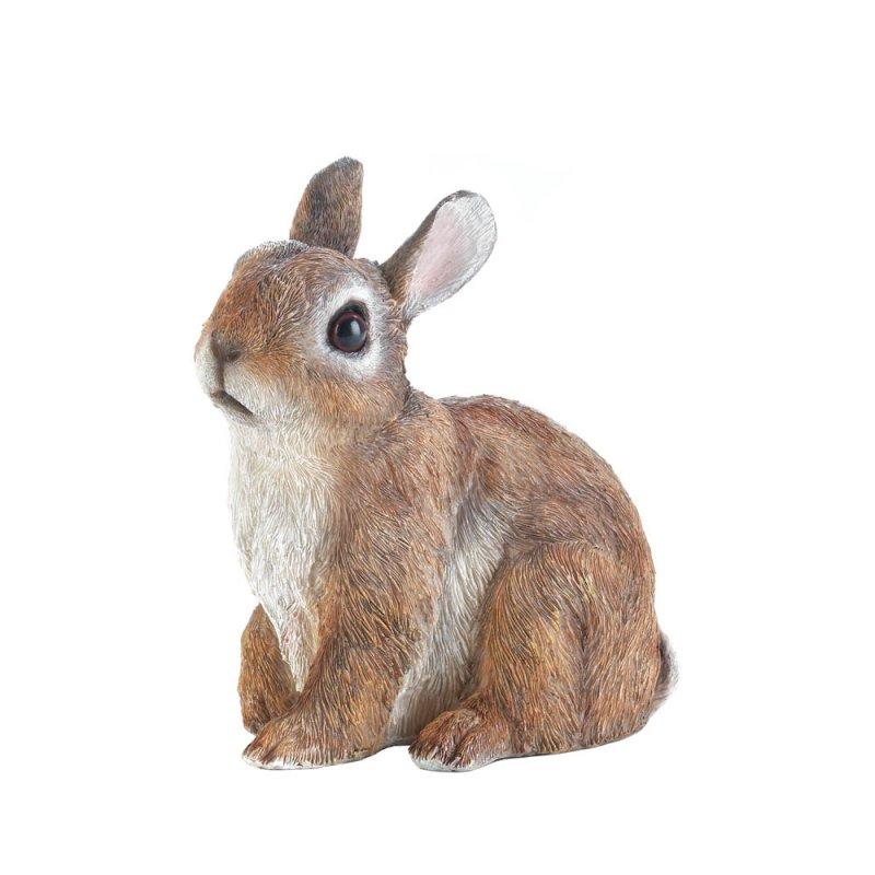 Image 1 of Sitting Bunny Rabbit Garden Figurine
