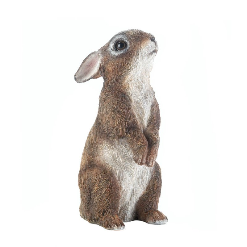 Image 1 of Adorable Standing Bunny Rabbit Garden Figurine
