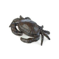 Cast Iron Crab Key Hider Figurine Garden Decor