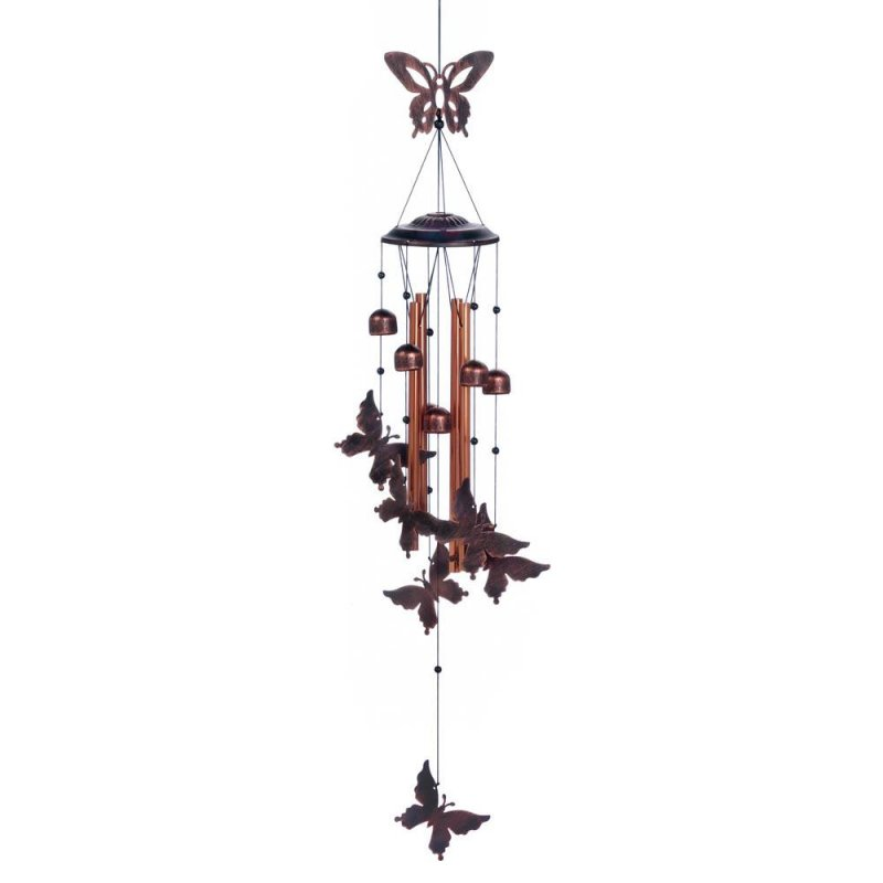 Image 0 of Fluttering Butterflies & Small Bells Wind Chime