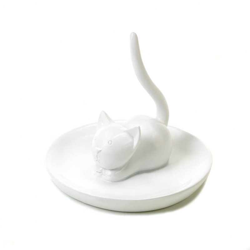 Image 0 of Charming Cat Ring, Jewelry Holder for Sink Countertop or Dresser