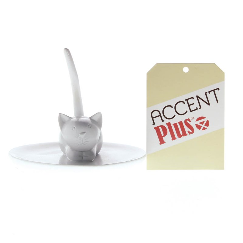 Image 1 of Charming Cat Ring, Jewelry Holder for Sink Countertop or Dresser