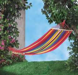Bahama Red, Blue and Yellow Striped Single Person Hammock