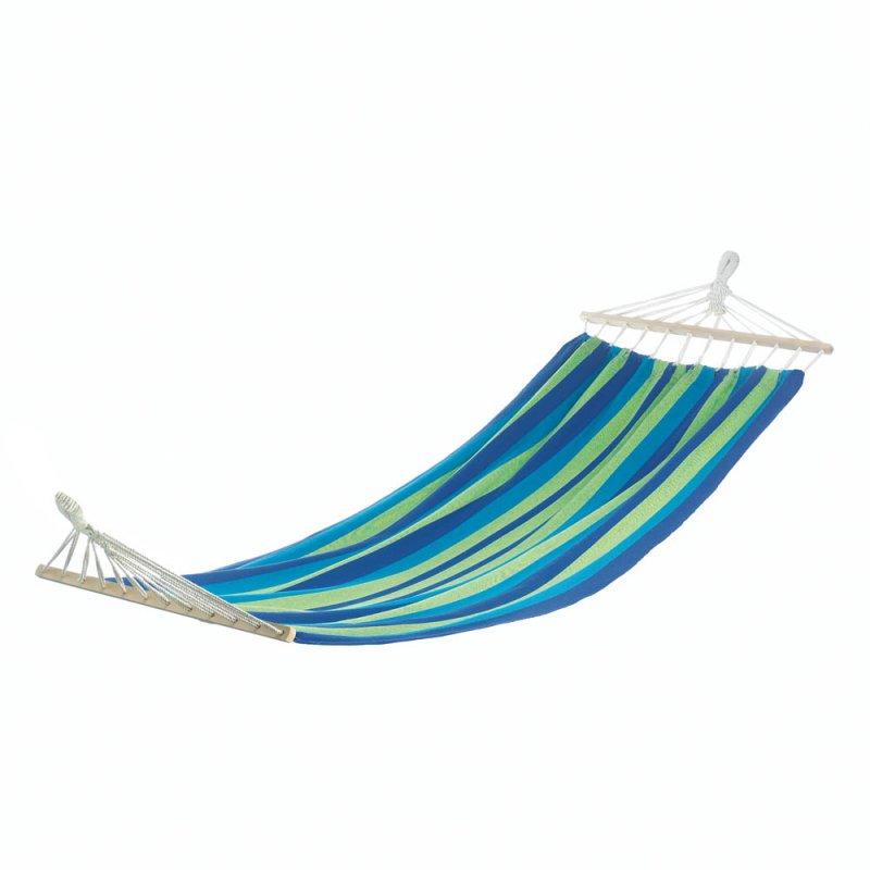 Image 1 of Bahama Blue & Green Striped Single Person Hammock