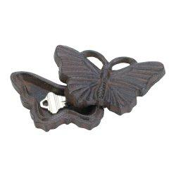 Cast Iron Butterfly Garden Key Hider Figurine Garden Decor