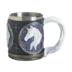 Magical White Unicorn Bust Mug Stainless Steel Interior