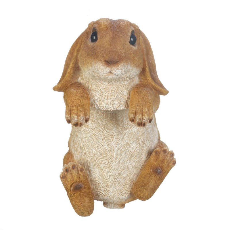 Image 2 of Climbing Golden Baby Bunny Buddy Hang on Fence, Wall or Flower Garden Figurine