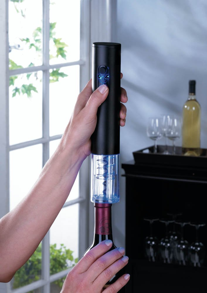 Image 1 of Black Electric Wine Bottle Opener with Foil Cutter